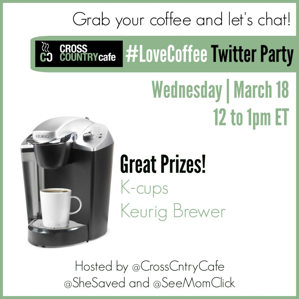 Join Me! #LoveCoffee Twitter Party with Cross Country Cafe