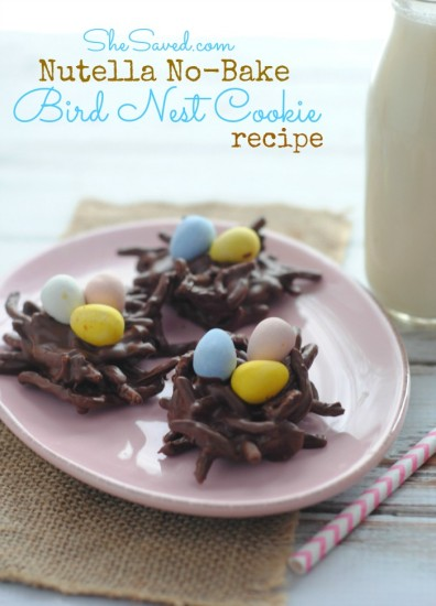 Nutella No-Bake Bird Nest Cookie Recipe