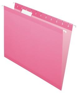 ... Pendaflex Hanging Folder, Pink, 1:5 Tab, Letter, 25 Box
