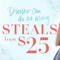 Designer Dresses from $25!