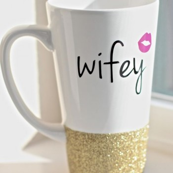 wifey sparkle mug