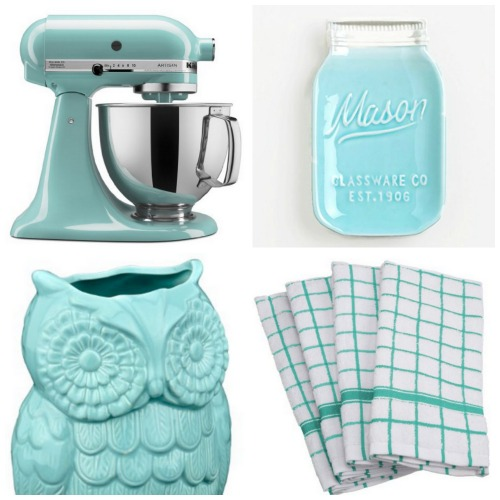 Add A Pop Of Color To Your Kitchen With Aqua Kitchen ...
