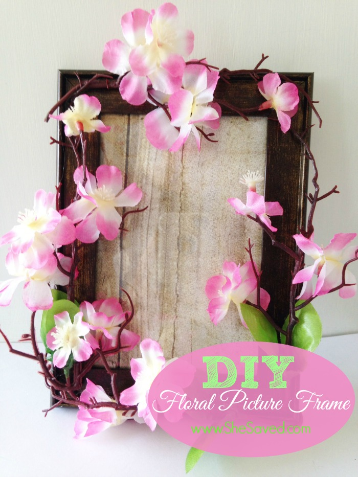 Homemade Mother\'s Day Gift Idea: DIY Floral Picture Frame - SheSaved®