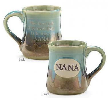 Nana Best Job Ever Porcelain Aqua Coffee Mug