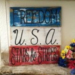 Rustic Patriotic Hand Painted Pallet Board Sign