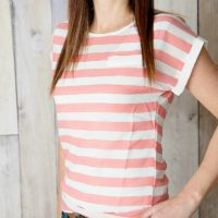 Striped Spring Blouse For $10.95 + FREE Shipping
