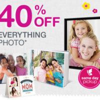 Walgreens Photo Save 40% Off Everything Photo