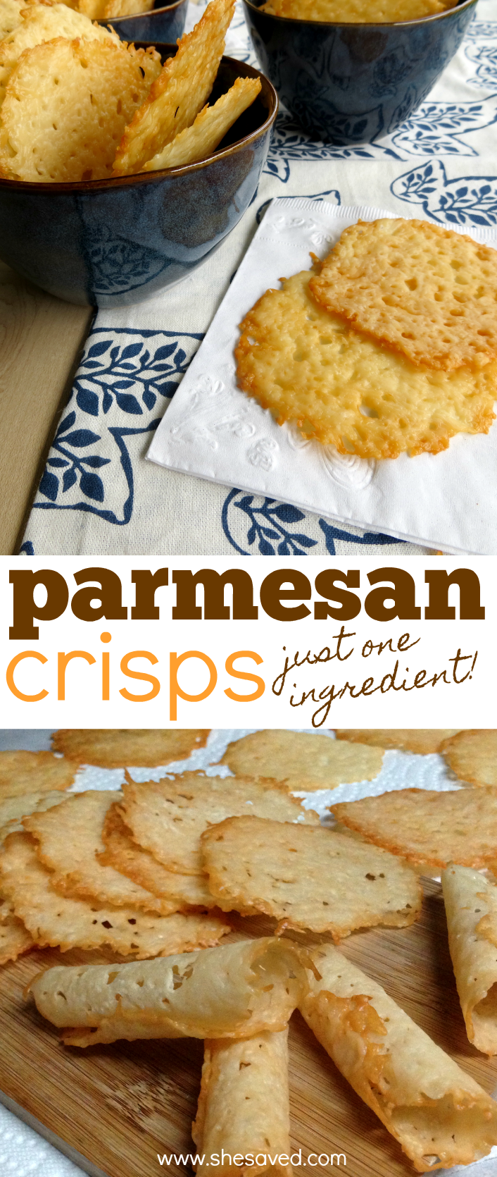 How to melt cheese for parmesan crisps