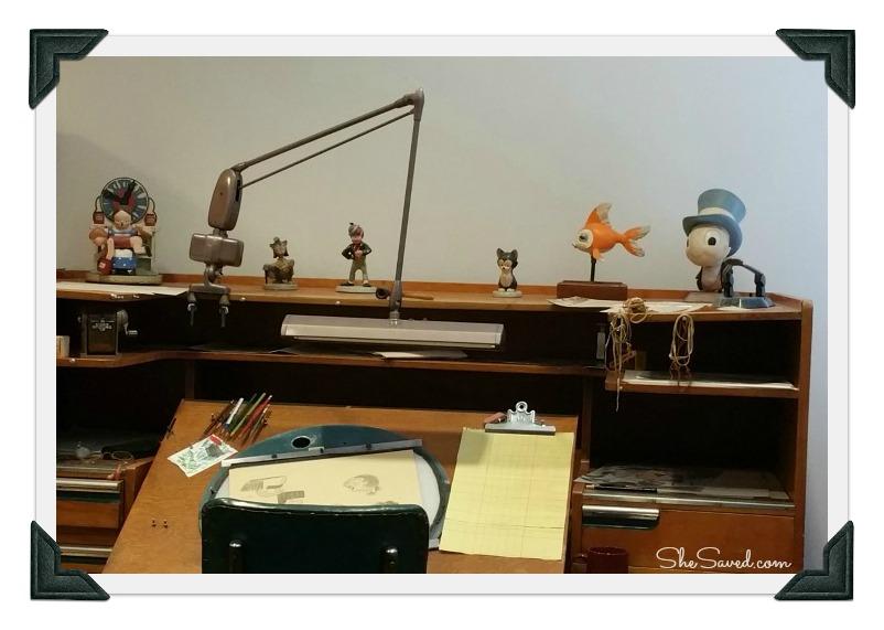 Vintage Disney Artist Desk