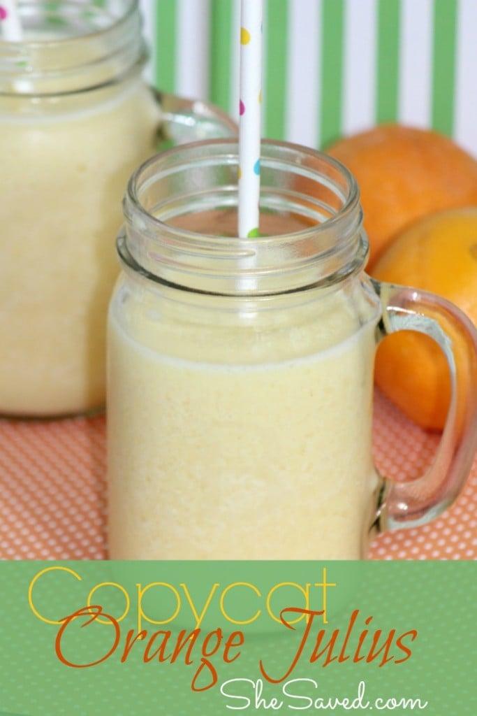 Orange Julius, copycat orange julius, refreshing drink, summer drink