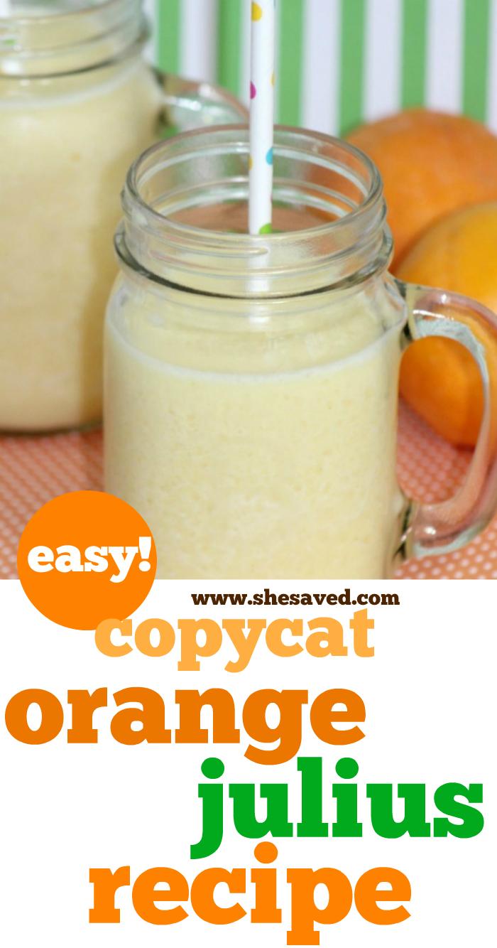 Easy copycat Orange Julius Recipe