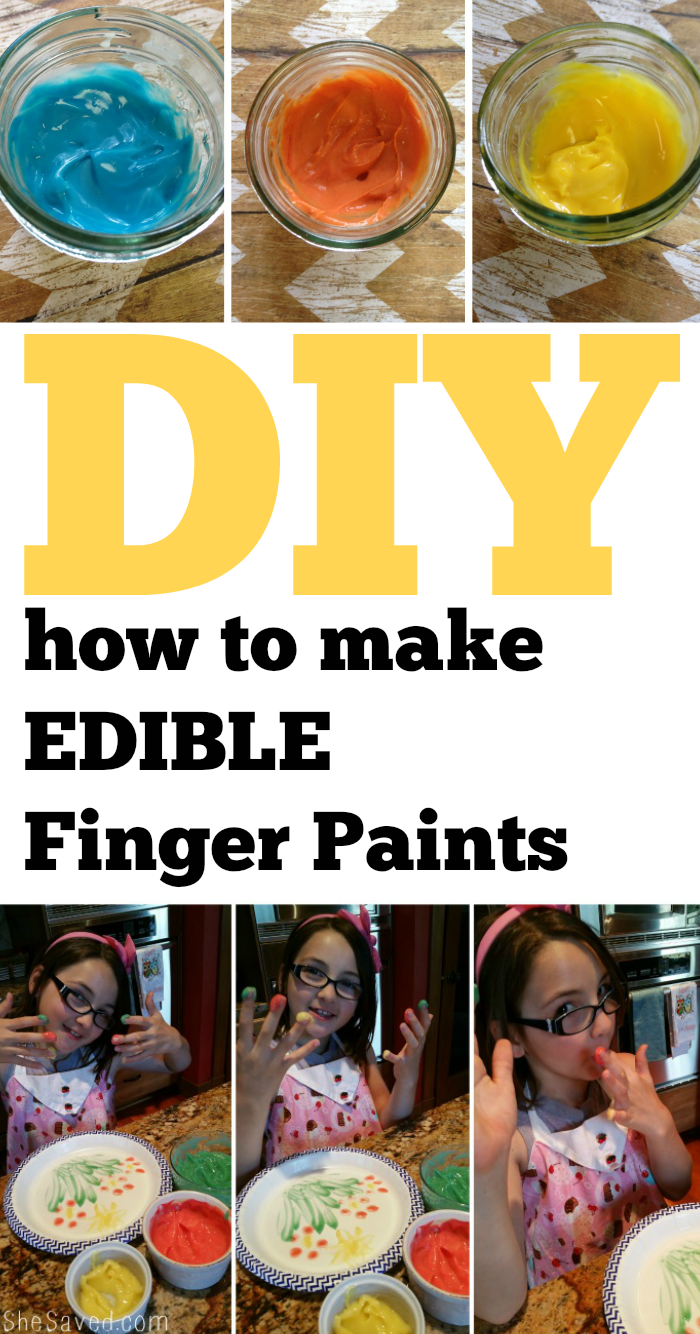 How to make Edible Finger Paints