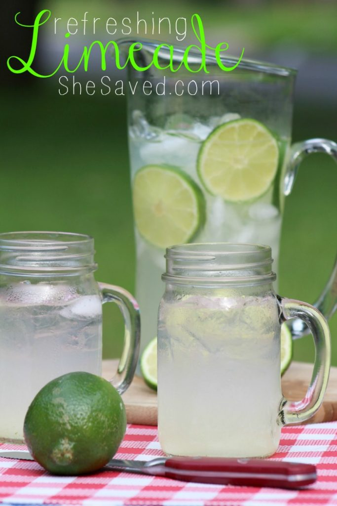 This Homemade Refreshing Limeade recipe is so easy and SO refreshing for those hot summer months!