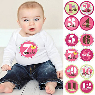 Monthly Baby Age Stickers For $8.99