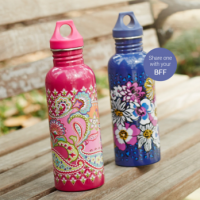 Vera Bradley Two FREE Water Bottles With Purchase