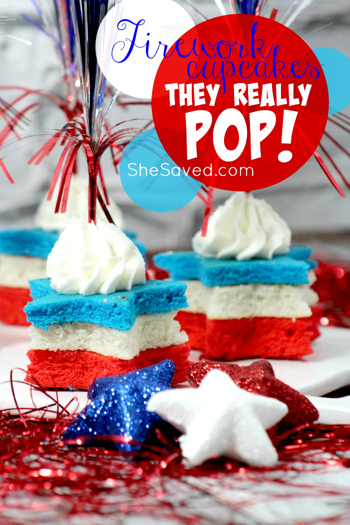 4th of July Fireworks Cupcakes that really POP!