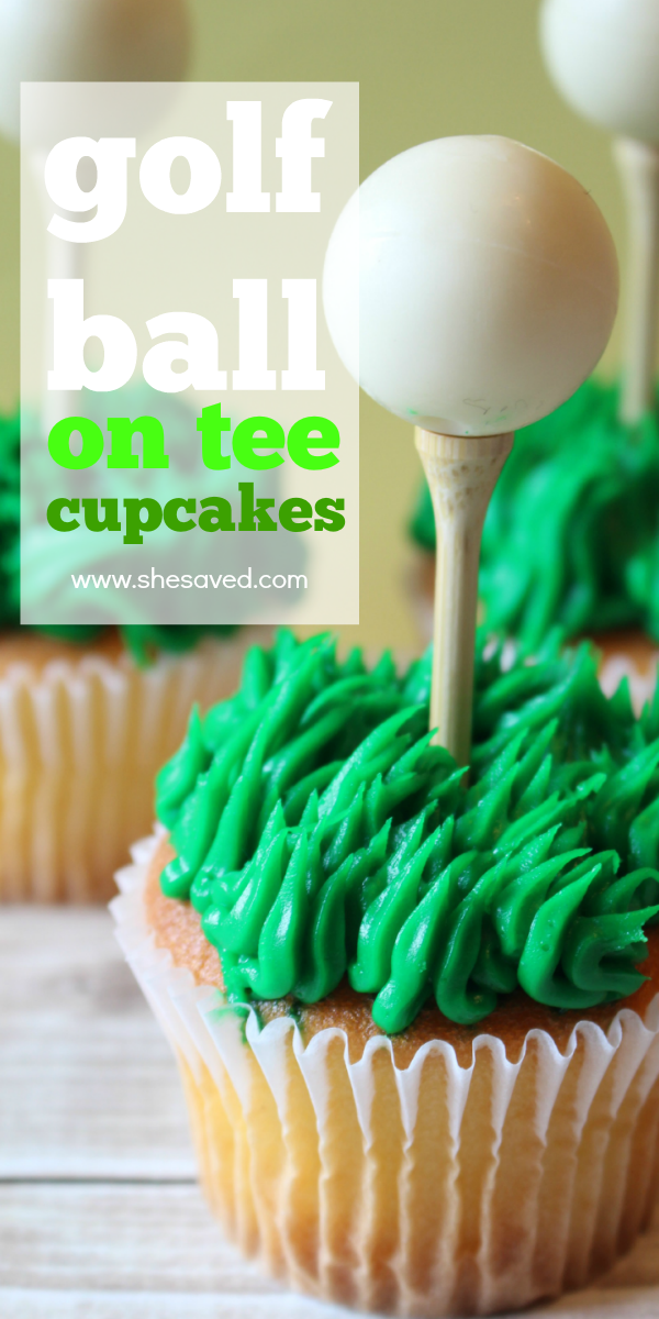Golf Ball on Tee Cupcakes recipe