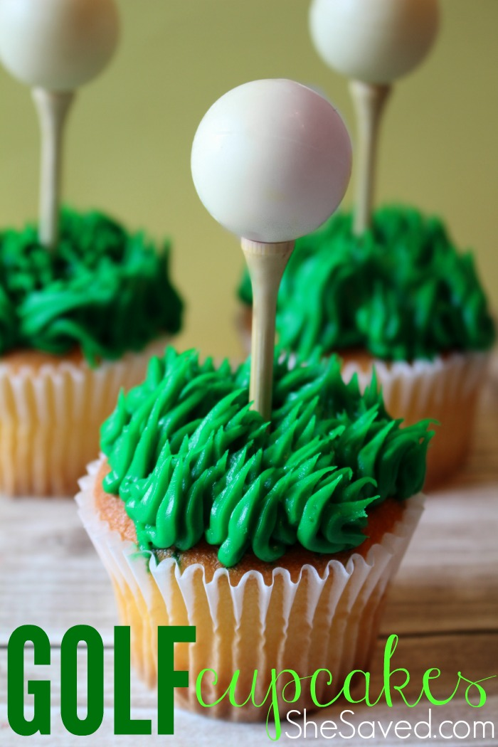 These golf cupcakes are perfect for your favorite golfer!