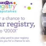 Babies R Us Registry Sweepstakes