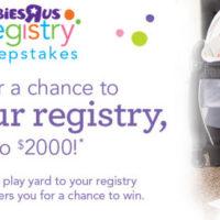 Babies R Us Registry Sweepstakes