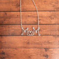 Handmade Wire Name Necklace For $6.99
