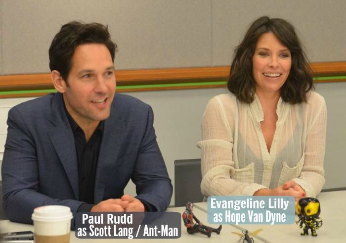 ANT-MAN with Paul Rudd & Evangeline Lilly