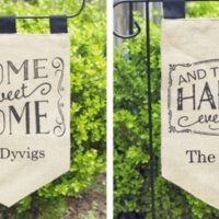 Personalized Burlap Garden Flags For $15.99