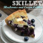 This skillet blueberries and cream cobbler makes for a wonderful and easy dessert, especially when topped with ice cream!