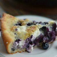 Skillet Blueberry and Cream Cobbler Recipe