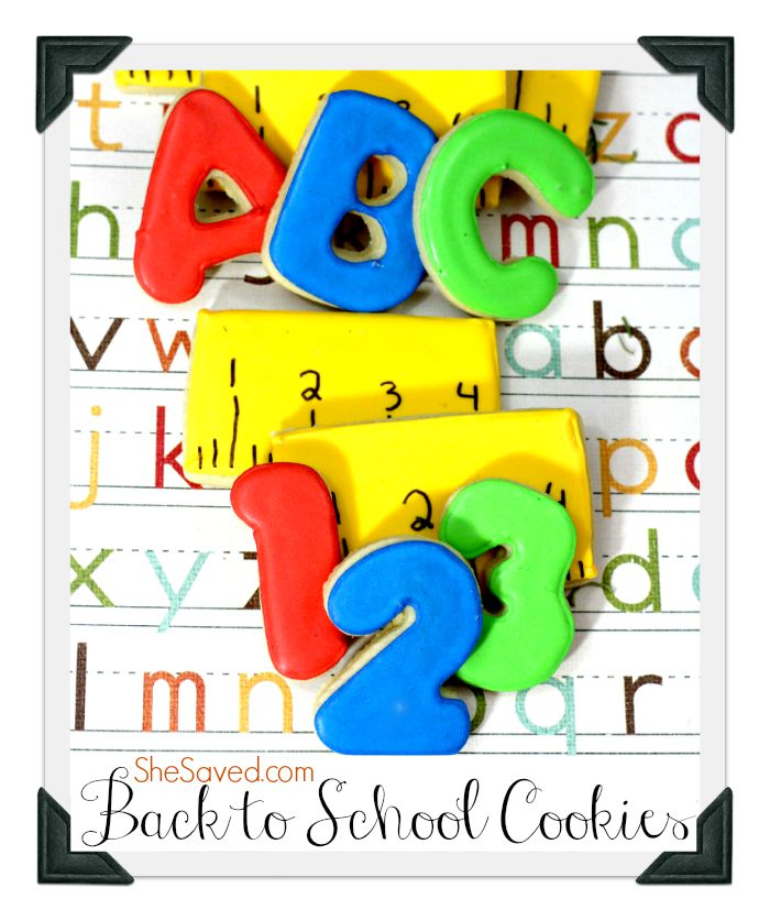 These fun ABC Cookies are perfect for Back to School!