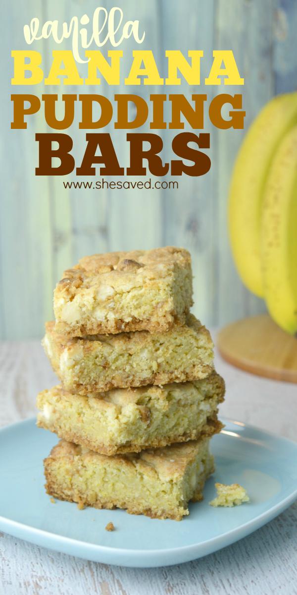 Banana Pudding Bars Recipe