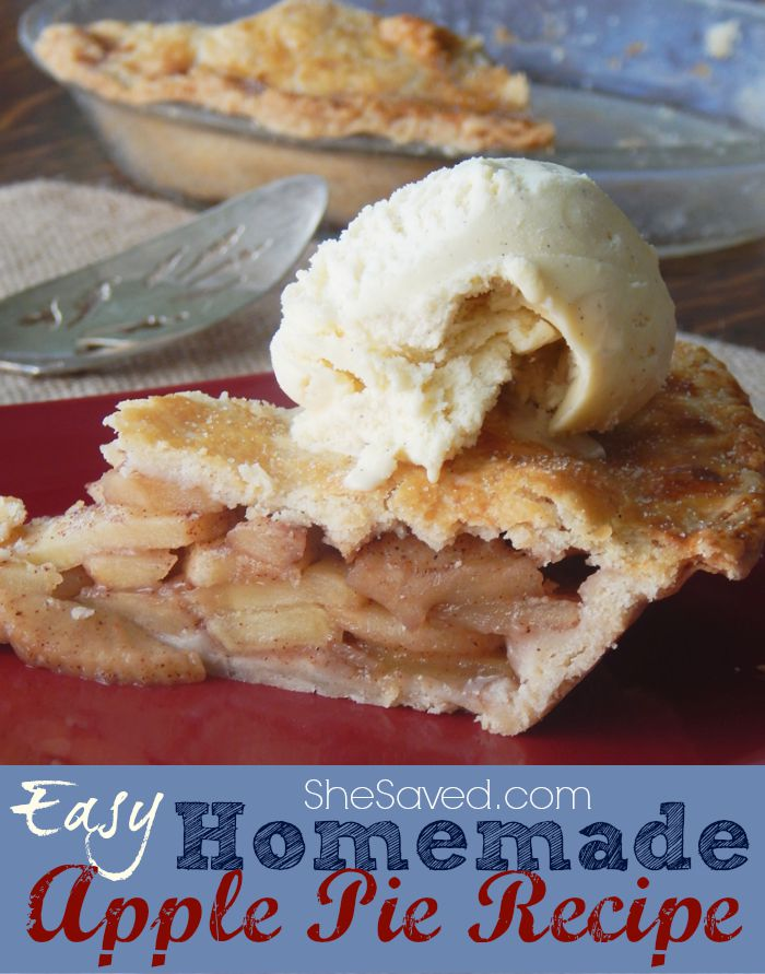 This Easy Homemade Apple Pie recipe is a delicious, yet simple dessert that you can make from scratch.