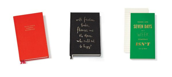 Kate Spade Journals make wonderful gifts with their lovely inspirational messages!
