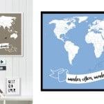Little Traveler World Map Quotes