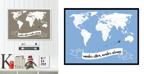Little Traveler World Map Quotes For $7.99