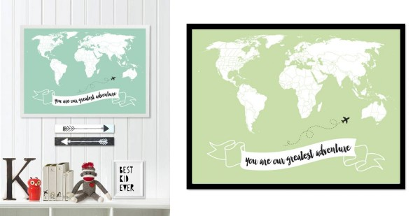 Little Traveler World Map Quotes