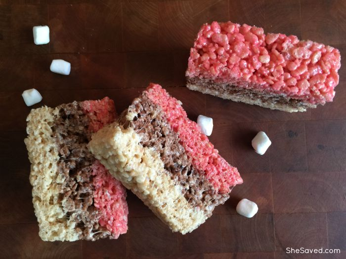 A new twist on an old favorite! Make these fun Neapolitan Rice Krispie Treats, they are delicious!