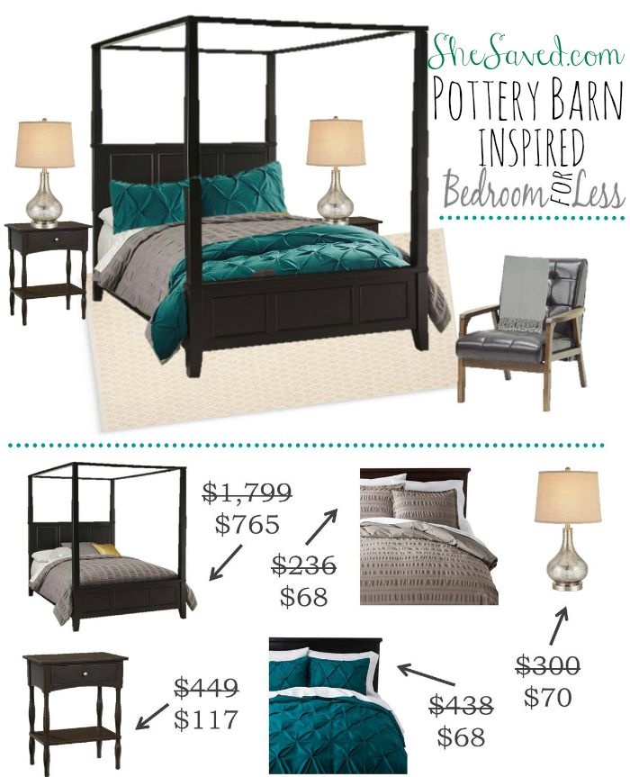 Create this Pottery Barn Inspired Bedroom look for less!