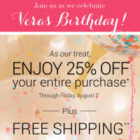 Vera Bradley 25% Off + FREE Shipping + FREE Wristlet With Purchase