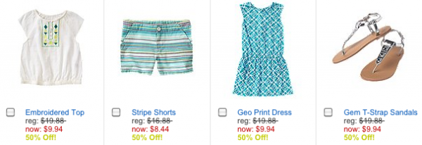 Crazy 8 Summer Blowout Save 50% Off