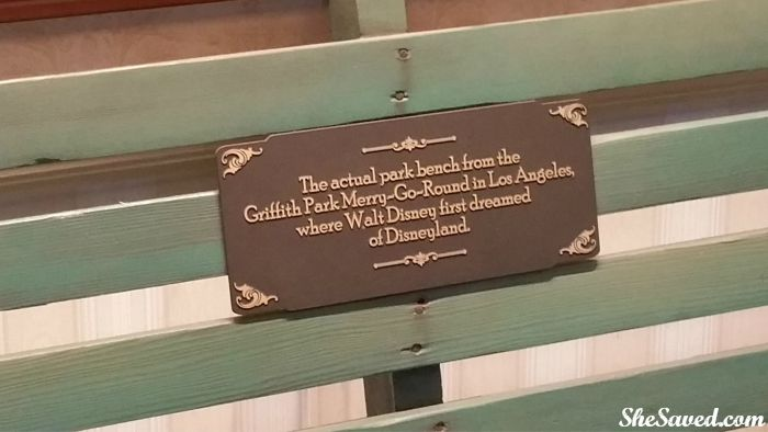 The park bench where Walt Disney first dreamed of creating Disneyland