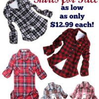 Fall Fashion! Flannel Shirts as Low as $12.99 each!