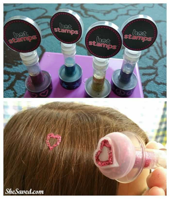 hot stamps hair glitter instructions
