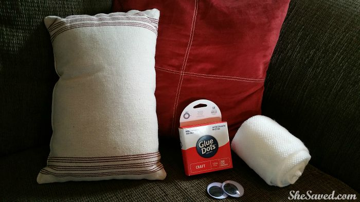 Make this cute Mummy Pillow easily with just a few supplies