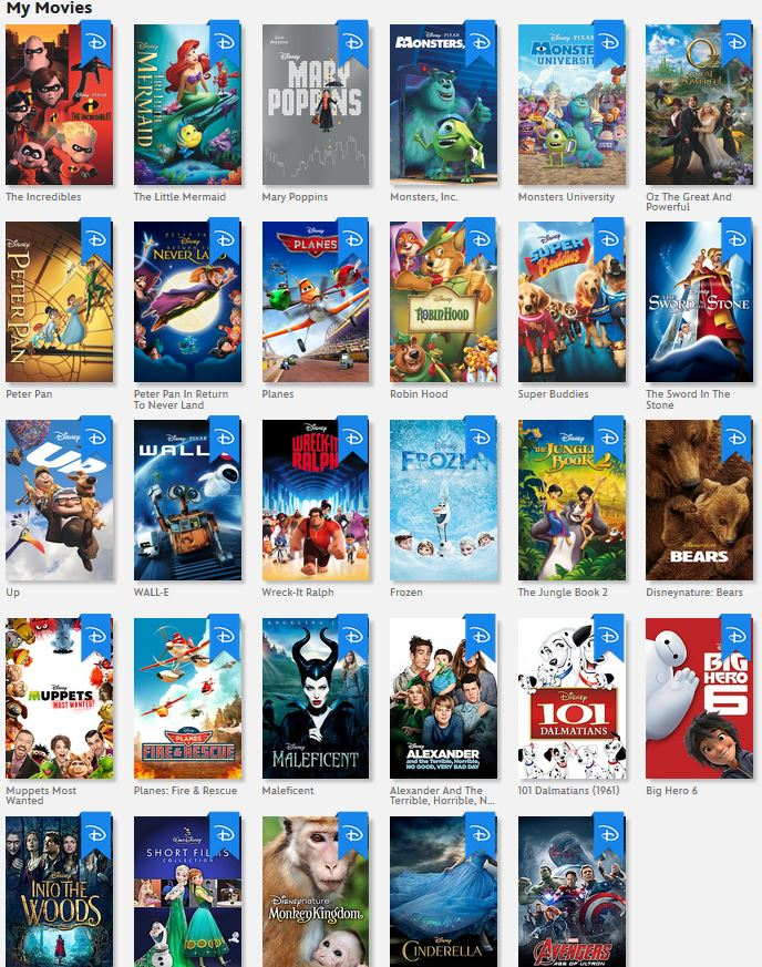 My Disney Movie Collection