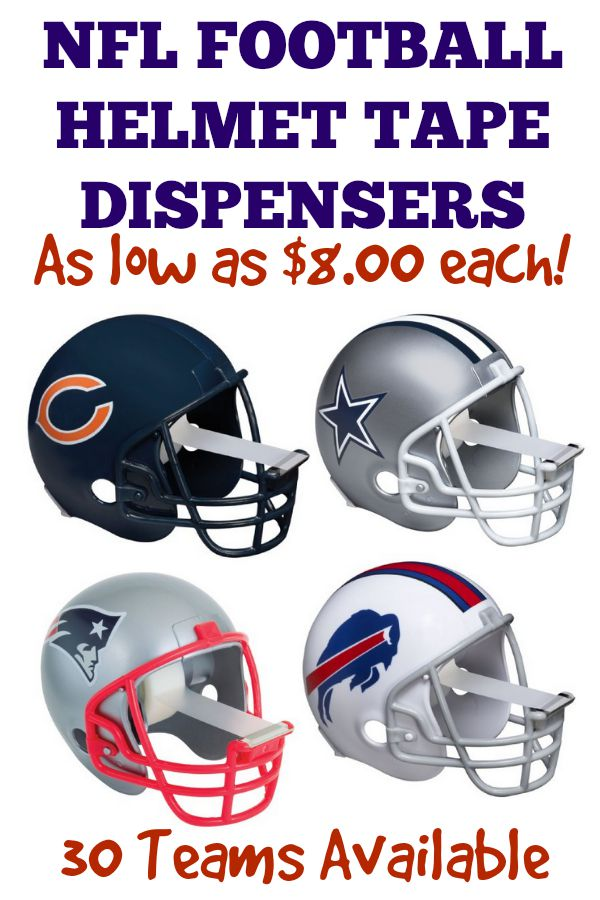 NFL Team Football Helmet Tape dispensers, a great gift idea!
