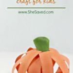 Fall Craft: Easy Paper Pumpkin Craft