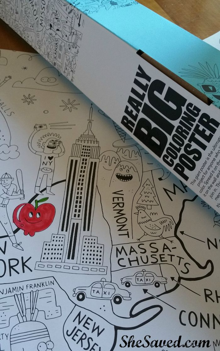 Really Big Coloring Poster Review (fun Stuff!) - SheSaved®