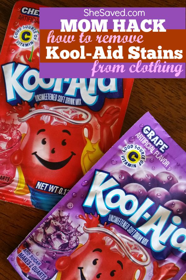 One of my favorite Mom Hacks: Save this tip for the next time that you need to remove kool aid stains from clothing, it WORKS!
