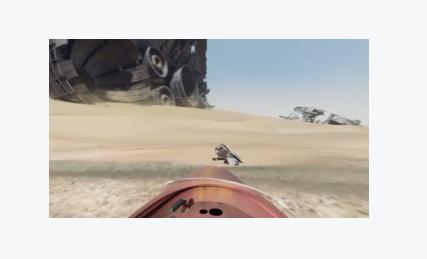 Jakku desert from Star Wars